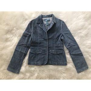 Blue corduroy blazer